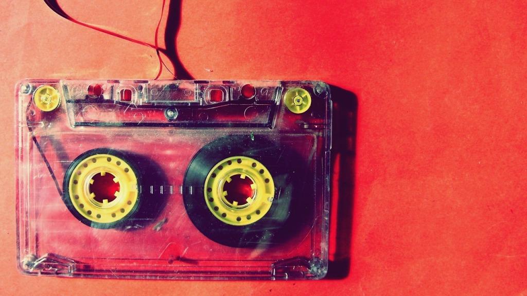 popped cassette tape